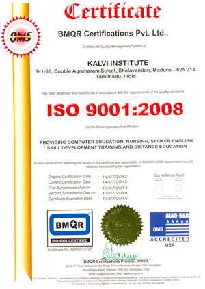 ISO Certificated - Kalvigroup